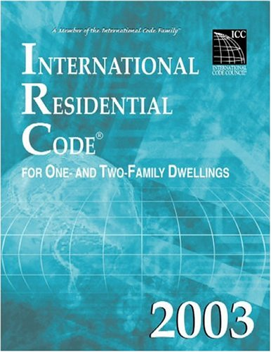 International Residential Code 2003   2003 edition cover