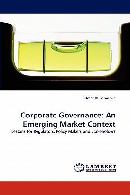 Corporate Governance An Emerging Market Context N/A 9783838397580 Front Cover