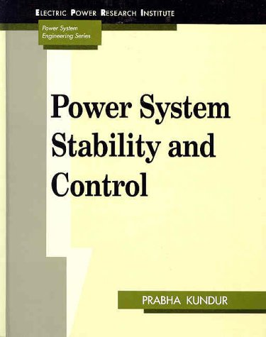Power System Stability and Control   1994 edition cover