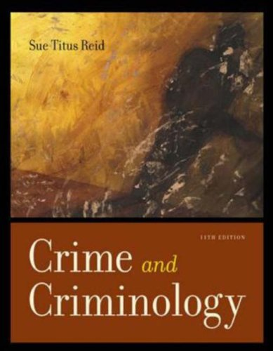 Crime and Criminology  11th 2006 (Revised) 9780072988581 Front Cover