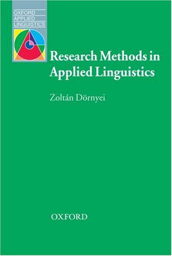 Research Methods in Applied Linguistics   2007 edition cover
