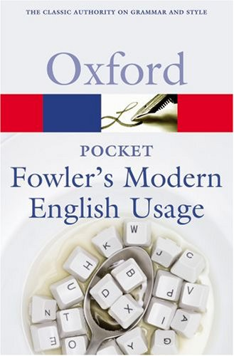 Pocket Fowler's Modern English Usage  2nd 2008 edition cover