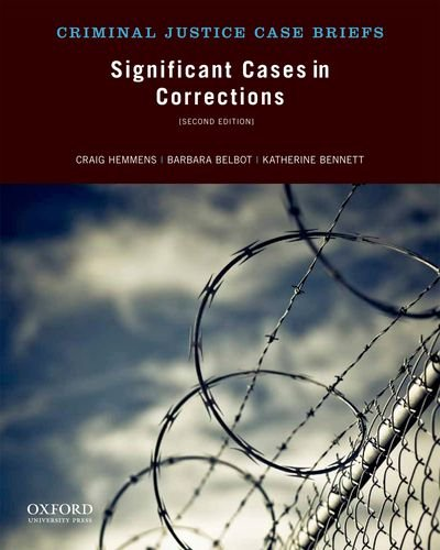 Significant Cases in Corrections  2nd edition cover
