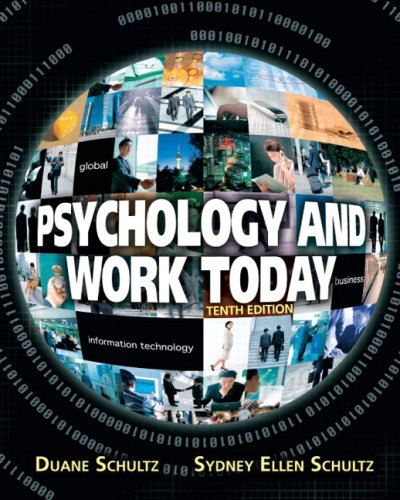 Psychology and Work Today  10th 2009 edition cover