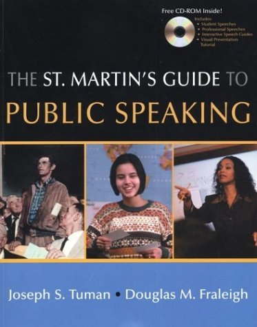 St. Martin's Guide to Public Speaking   2003 9780312404581 Front Cover