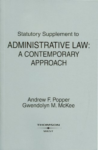 Statutory Supplement to Administrative Law A Contemporary Approach  2009 edition cover