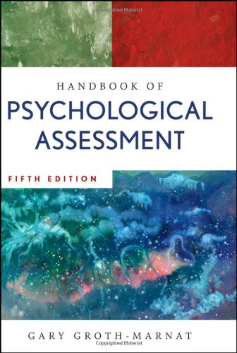 Handbook of Psychological Assessment  5th 2009 (Handbook (Instructor's)) 9780470083581 Front Cover