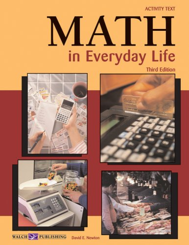 Math in Everyday Life  Activity Book edition cover