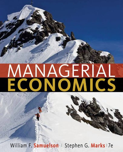 Managerial Economics  7th 2012 edition cover
