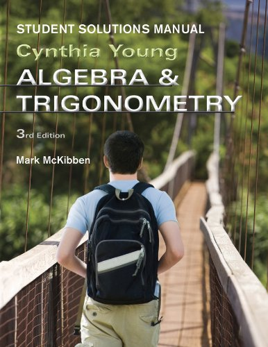 Algebra and Trigonometry  3rd 2012 (Student Manual, Study Guide, etc.) edition cover