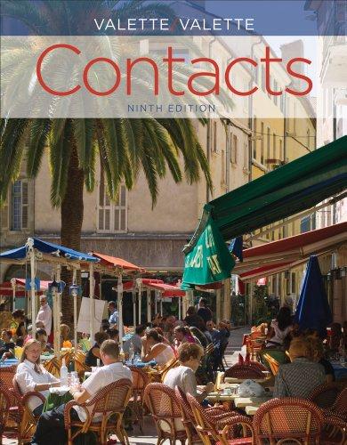 Contacts Langue et Culture Fran�aises 9th 2014 edition cover