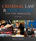Criminal Law and Procedure for the Paralegal:   2014 9781133693581 Front Cover