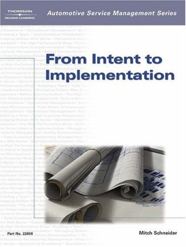 From Intent to Implementation   2003 9781401826581 Front Cover