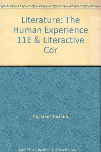 Literature: the Human Experience 11e and LiterActive CDR  11th edition cover