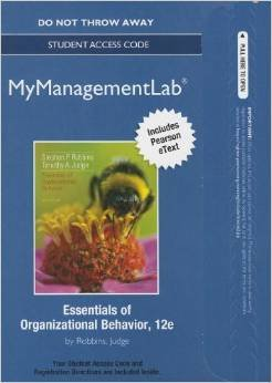 Essentials of Organizational Behavior  11th 2012 (Revised) 9780132553582 Front Cover