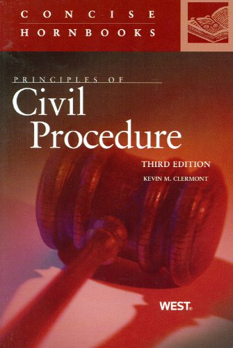Principles of Civil Procedure  3rd 2012 (Revised) 9780314276582 Front Cover