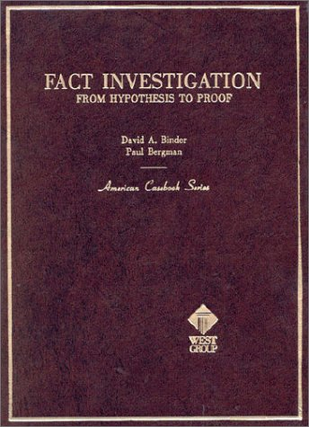 Fact Investigation Hypothesis to Proof  1984 (Reprint) 9780314812582 Front Cover