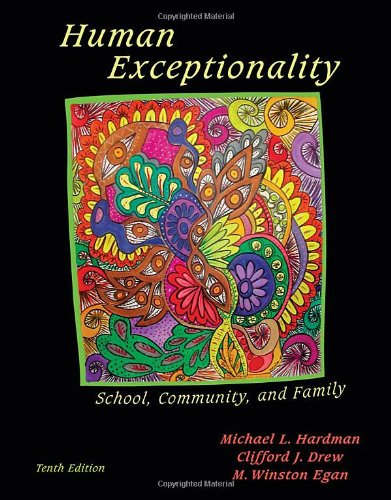 Human Exceptionality School, Community, and Family 10th 2011 edition cover