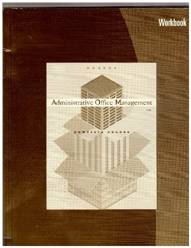 Administrative Office Management  13th 2005 edition cover