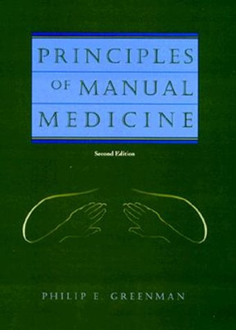 Principles of Manual Medicine  2nd 1996 (Revised) edition cover