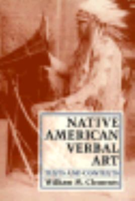 Native American Verbal Art Texts and Contexts N/A edition cover