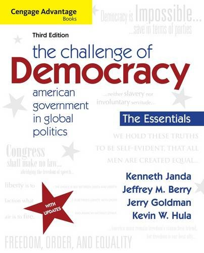 Challenge of Democracy American Government in Global Politics 3rd 2013 edition cover