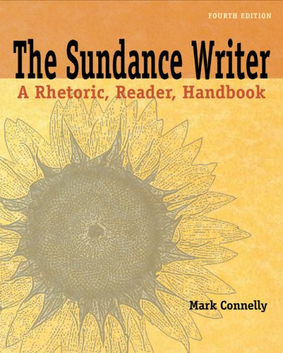 Sundance Writer A Rhetoric, Reader, Handbook 4th 2010 (Handbook (Instructor's)) edition cover