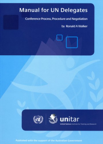 Manual for un Delegates Conference process, procedure and Negotiation  2011 edition cover