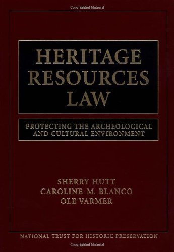 Heritage Resources Law Protecting the Archeological and Cultural Environment  1999 9780471251583 Front Cover