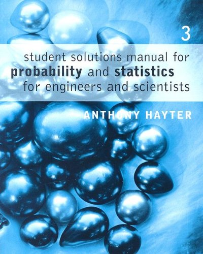 Probability and Statistics for Engineers and Scientists  3rd 2007 9780495107583 Front Cover