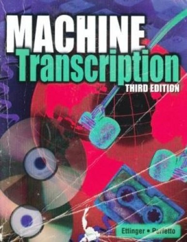 Machine Transcription Applied Language Skills 3rd 9780763822583 Front Cover