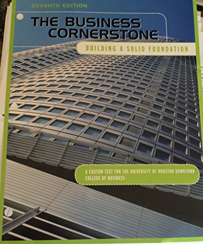 BUSINESS CORNERSTONE (LL) >CUSTOM<      N/A 9781269994583 Front Cover