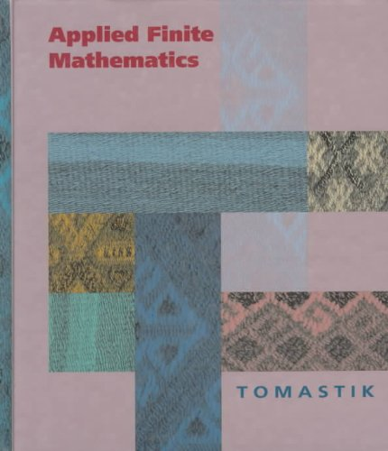 Applied Finite Mathematics  1st 1994 9780030972584 Front Cover