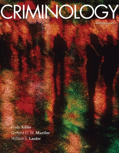 Criminology  7th 2010 edition cover