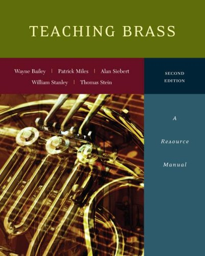 Teaching Brass A Resource Manual 2nd 2008 edition cover