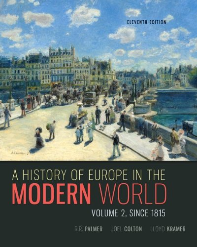 A History of Europe in the Modern World:   2013 edition cover