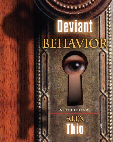 Deviant Behavior  9th 2007 9780205512584 Front Cover