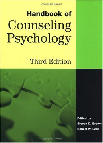 Handbook of Counseling Psychology  3rd 2000 (Revised) edition cover
