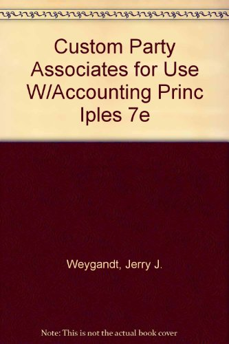 Custom Party Associates for use w/Accounting Principles  7th 2005 (Revised) 9780471650584 Front Cover