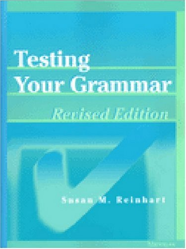 Testing Your Grammar   2002 (Revised) edition cover