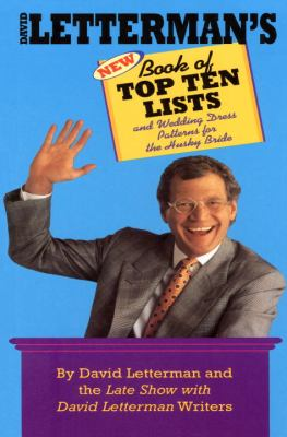 David Letterman's New Book of Top Ten Lists And Wedding Dress Patterns for the Husky Bride N/A 9780553763584 Front Cover