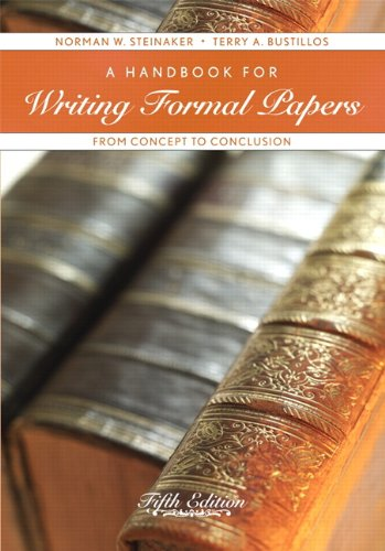Handbook for Writing Formal Papers From Concept to Conclusion 5th 2011 edition cover