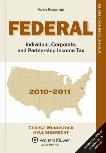 Federal Individual Corporate and Partnership Income Tax 2010-2011  N/A edition cover
