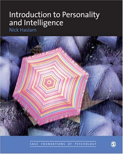 Introduction to Personality and Intelligence   2007 9780761960584 Front Cover