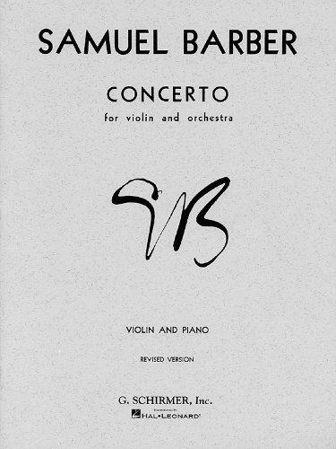 Concerto Op. 14 For Violin and Orchestra N/A edition cover