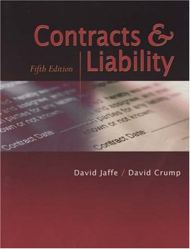 Contracts and Liability  5th 2004 9780867185584 Front Cover