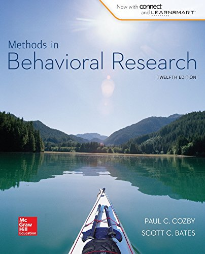 Methods in Behavior Research + Connect Plus Access Card:   2014 9781259547584 Front Cover