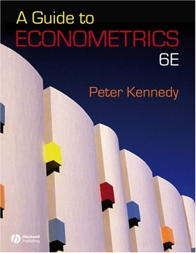 Guide to Econometrics  6th 2008 (Revised) 9781405182584 Front Cover