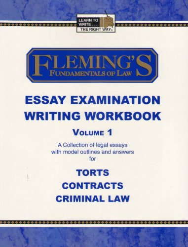 Essay Examination Writing Workbook, Volume 1 7th 2006 (Revised) edition cover