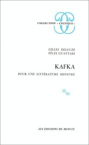 POUR UNE LITTERATURE MINEURE 1st edition cover